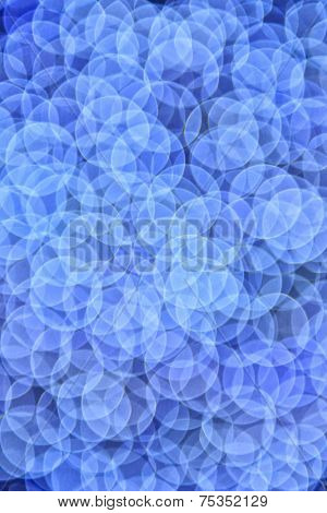 Abstract Blue Bokeh Defocused Background
