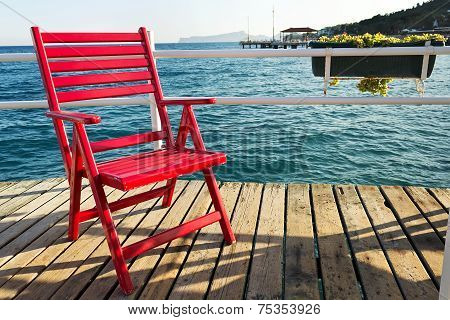 Red Beach Chair