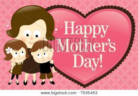 Happy mother's Day Banner Caucasian/gemischt