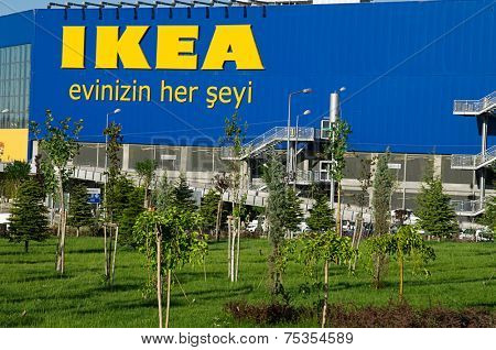 Ankara, Turkey - June 17, 2012: Front entrance of IKEA store in Ankara, Turkey.