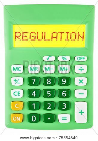 Calculator With Regulation On Display Isolated