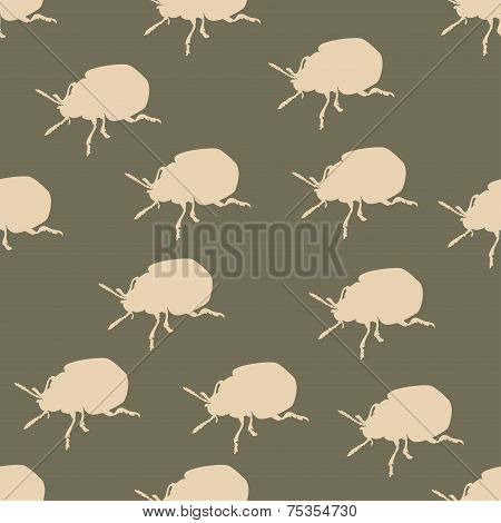 Seamless pattern with colorado beetle