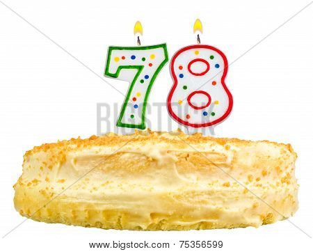 Birthday Cake Candles Number Seventy Eight