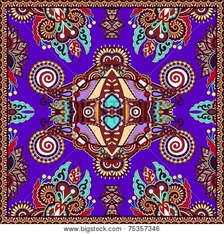 Traditional ornamental floral paisley violet colour bandanna