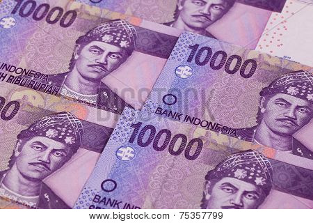 Different Rupiah Banknotes From Indonesia
