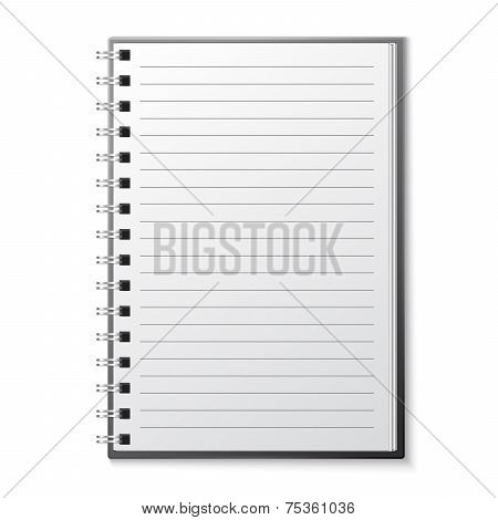 Blank copybook template