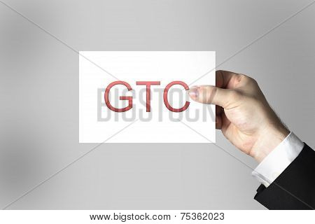 Hand Holding Sign General Terms And Conditions Gtc