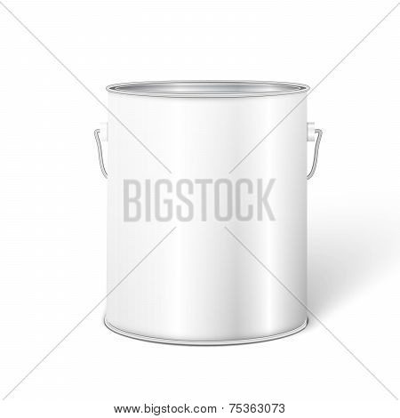 Container With Metal Handle
