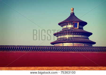 Chinese Temple Traditional Culture Travel Destinations Concept