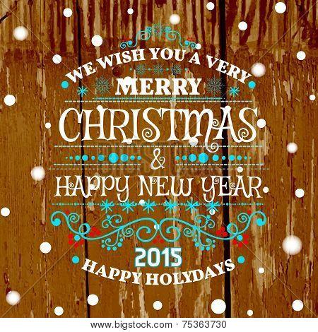 Christmas Card With Christmas Balls, Vector