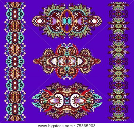 ornamental of violet colour floral adornment