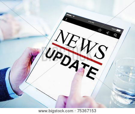 Digital Online News Headline Update Concept