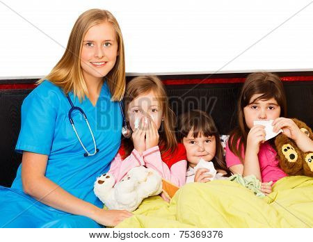 Little Patients And Their Pediatrician