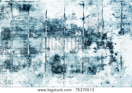 Abstract Blue Grunge Background Texture With Wood Pattern