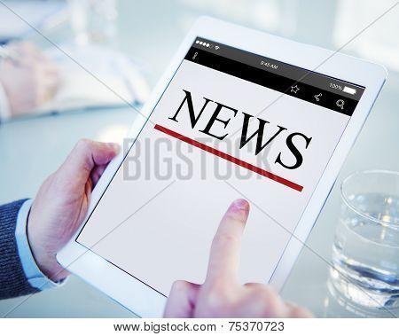 Digital Online News Headline Update Concept