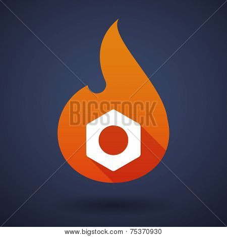 Flame Icon With Bombs