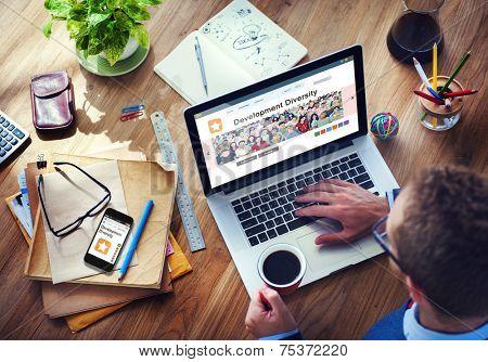 Digital Online Internet Browsing Development Diversity