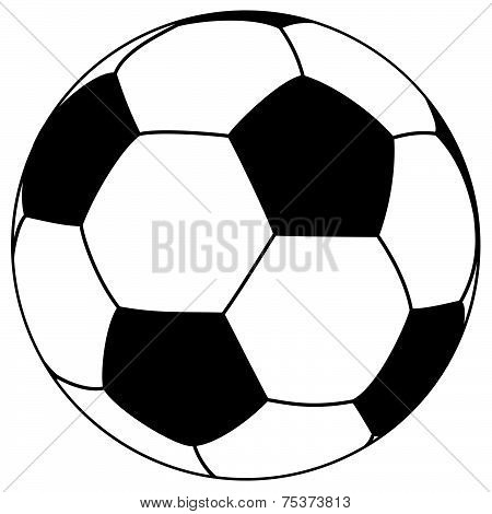 Black-white Football - Simple Vector Illustration