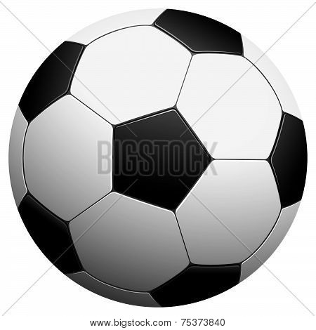 Black And White Football - Vector Illustration