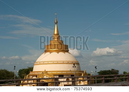 View Of Pagoda In Sagaing Near Ayeyarwady River And Inwa Bridge,Myanmar.