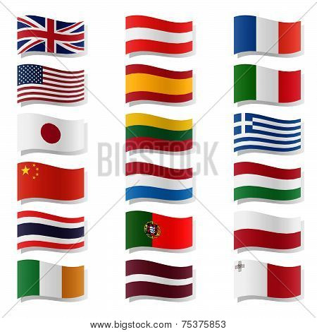 Swung Country Flags - Set 01