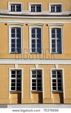facade of baroque palace in Rogalin