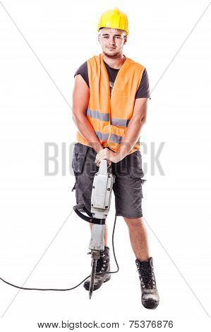 Young Road Worker