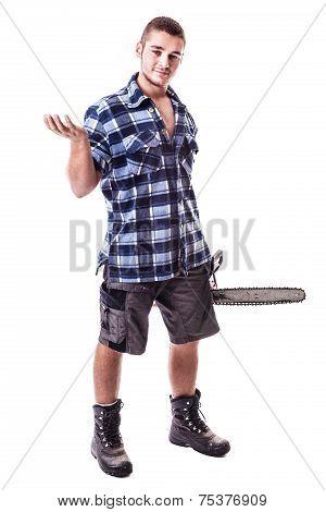 Isolated Lumberjack