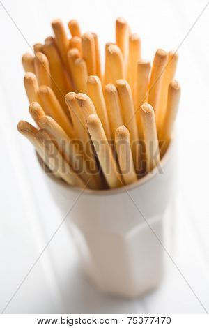 breadstick grissini in cup