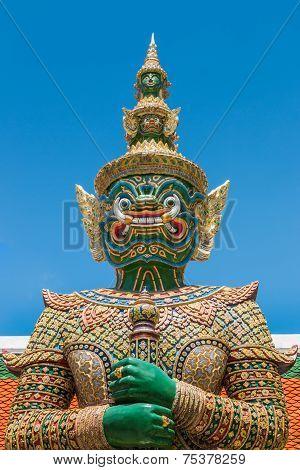 Ravana Giant Statue At Wat Phra Si Rattana Satsadaram (wat Phra Kaew), Bangkok