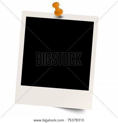 Blank old photo With Pin Needle