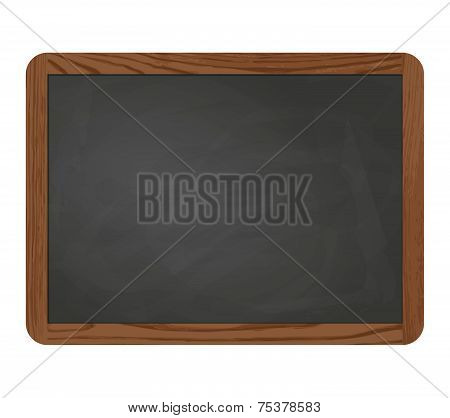 Slate Blackboard Gray With Wooden Frame