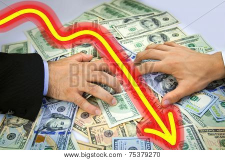 Business Men's Hands Grabbing Over Money