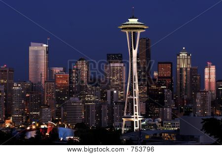 Seattle ao entardecer