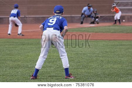 A Right Fielder Gets Set For A Play