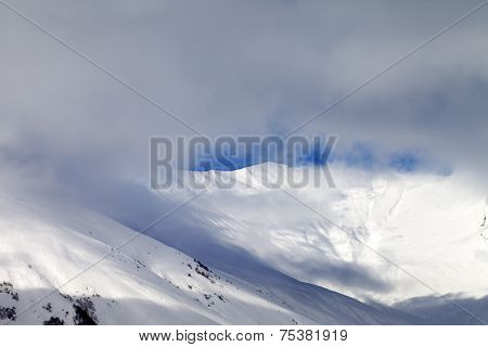 View On Off-piste Slope In Mist