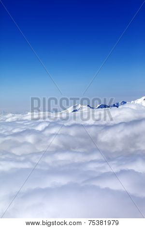 Mountains Under Clouds And Clear Blue Sky