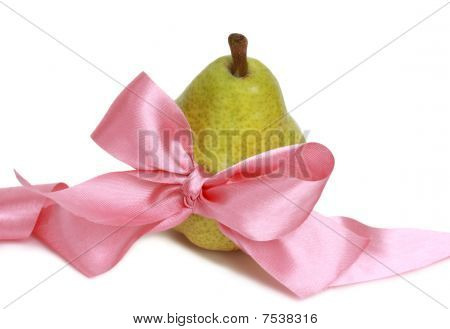 Pear And Pink Ribbon