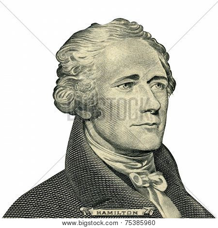 First Secretary of Treasury Alexander Hamilton (Clipping path)