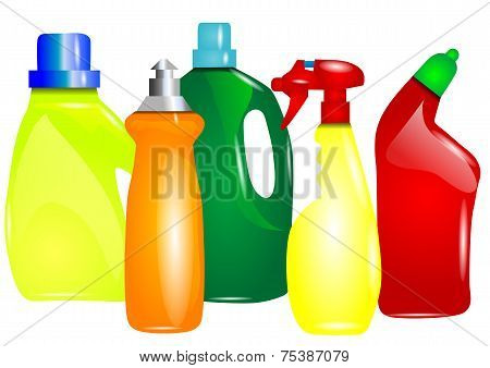 Multicolor Cleaning Products