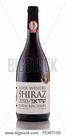One Bottle Of Red Wine Shiraz Kerem Ben Zimra 2010