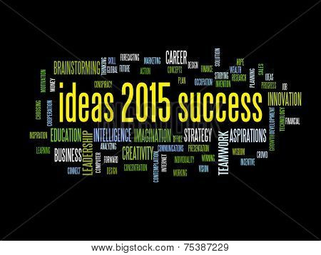 ideas of success 2015 word cloud