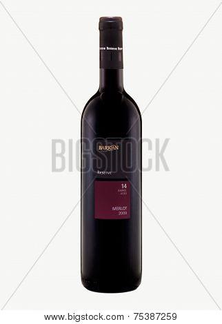 Red Dry Wine Barkan Reserve Merlot 2009