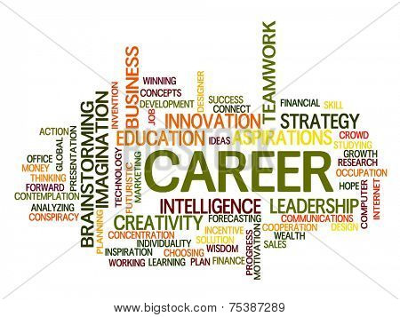 Career related words concept in word tag cloud
