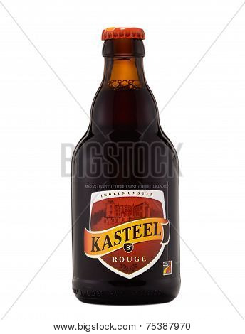 One Bottle Of Fruit Beer Kasteel Rouge Alc.8%, 330 Ml