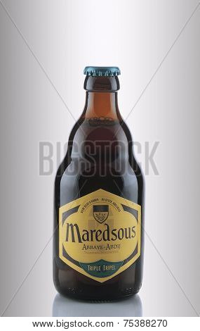 One Bottle Of Abbey Beer Maredsous 10 Triple