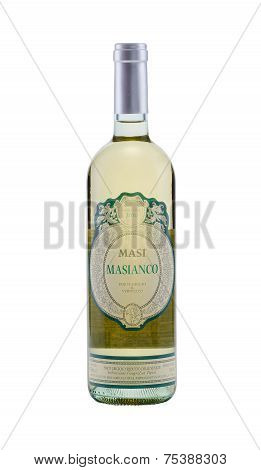 One Bottle Of White Dry Wine Masi Masianco 2010 Pinot Grigio & Verduzzo