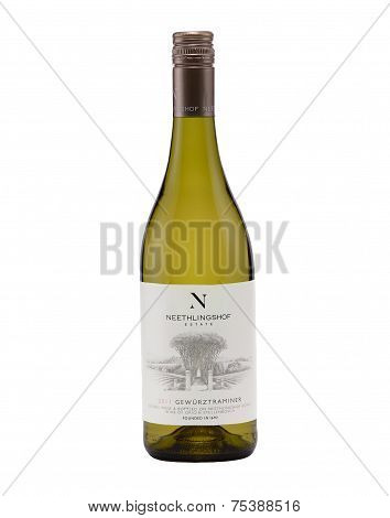 One Bottle Of Semi-dry White Wine Neethlingshof Gewurztraminer 2011