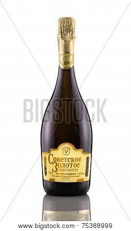 Sparkling Semi-sweet Wine Sovetskoe Zolotoe