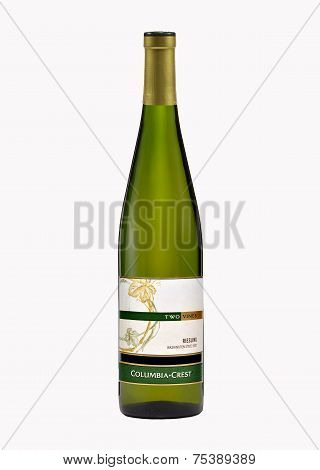 One Bottle Of Dry White Wine Two Vines Riesling 2007